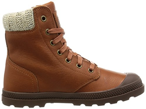 Palladium Femmes Mocha Bisque/Chest Pampa Hi Knit LP Bottes Mocha Bisque/Chest