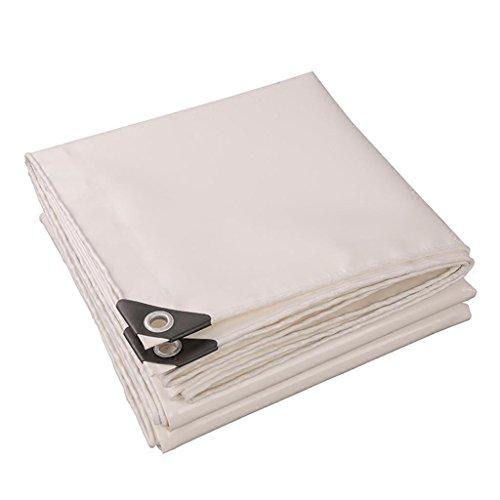 Outdoor supplies- Verdickte im Freien Verdickte Tuchverschlüsselung des Schirmtextilverschleißes der Hohen Stärke Drahtschneider-Planendicke 0.45mm Verschiedene Größen (Farbe : Weiß, Größe : 2M*3M)