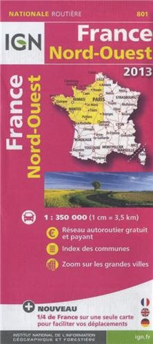 801 FRANCE NORD-OUEST 2013 1/350.000