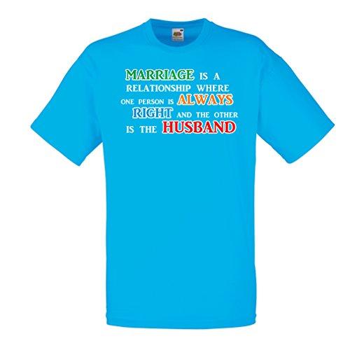 lepni.me Camisetas hombre Aniversario de boda, deseos divertidos de matrimonio (XX-Large Azul Multicolor)
