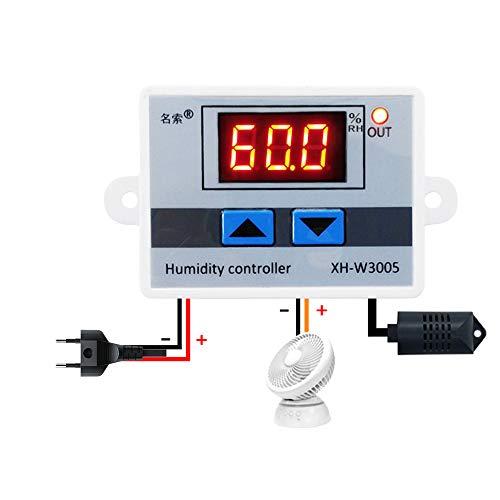 KKmoon XH-W3005 Multifunktionale Praktische Hohe Präzision Digitale Luftfeuchtigkeit Controller Hygrometer Schalter 0~99{6b1185841246e4f9c8805a77c01208eab0806a058c1b2fb3fe23813cbf7f0160} RH Hygrostat mit Sensor