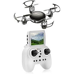 Top Race Mini-Drohne Spion Kamera, 2,4 GHz Fernbedienung für Kinder ab 14 Jahren (TR-mq8)