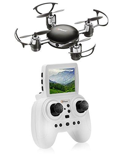 Top Race Mini Drone con la cámara de Espionaje, 2,4 GHz de Control Remoto para niños de 14 años y más (TR-mq8)