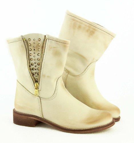 Cristina ovye by lucchi rI1303 2013 en cuir véritable orné de la cheville femme chaussures bottes de motard boots fabriquéà la main en italie.