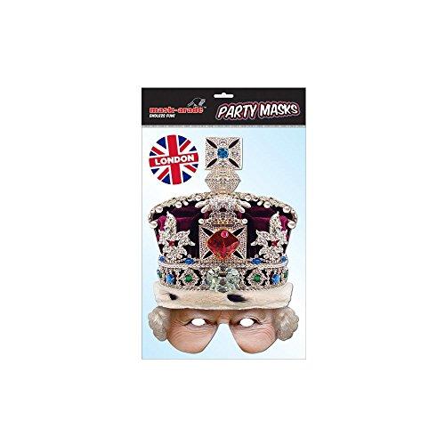 Queen Crowned Half Mask ()