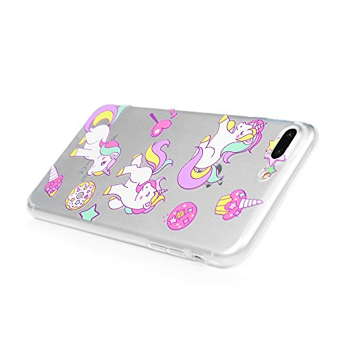 Coque iPhone 7 Plus / iPhone 8 Plus Mavis's Diary Étui Housse de Protection TPU Silicone Gel Souple Bumper Phone Case Cover Protection écran Swag Pour iPhone 7 Plus / iPhone 8 Plus 5.5'' + Chiffon - P Licorne 1