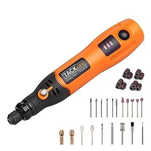 Utensile Multifunzione, Tacklife PCG01B 3.7 V DC Mini Drill Senza Fili a 3 Velocità. Utensile rotante con 31 Utensili e… 1 spesavip