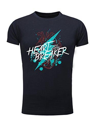 Goodflow Comic T-Shirt Heart Breaker schwarz Navy