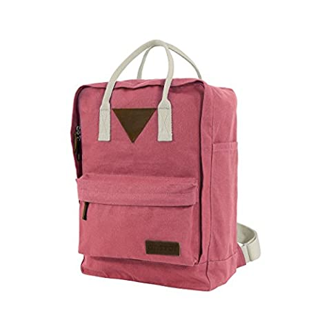 Ansvar II Organic Cotton Canvas Backpack - Vintage Red - High Quality Unisex Daypack from (Imbottito Certificato)