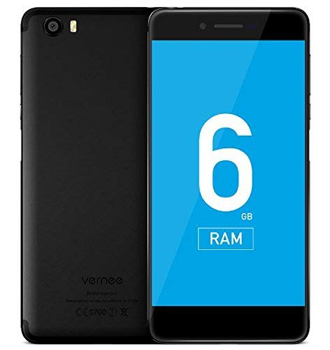 Vernee Mars Pro (2017 Flagship) - 5,5 pollici AMOLED schermo Android 7.0 4G Smartphone, Helio P25 Octa Core 2.5GHz 6GB RAM 64GB ROM, 7.6mm Super Slim - Nero