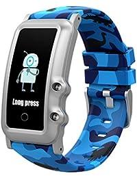 BIGCHINAMALL Reloj Inteligente Niño, Niña Pulsera Actividad Reloj Inteligente de para Deportivo Monitores Smartwatch Contador Pasos Pulsometro Deporte Relog Digitales Watch (Painted Blue)