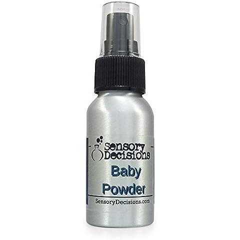 Baby polvere fragranza stanza Spray, profumo talco, by sensoriale decisioni, metallo, Argento, 1 bottle