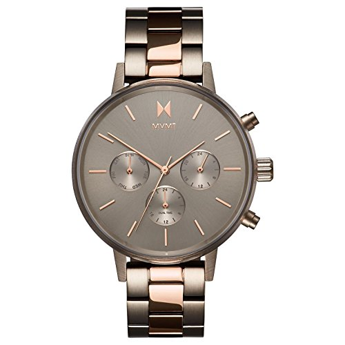MVMT Damen Chronograph Quarz Uhr mit Edelstahl Armband D-FC01-TIRG