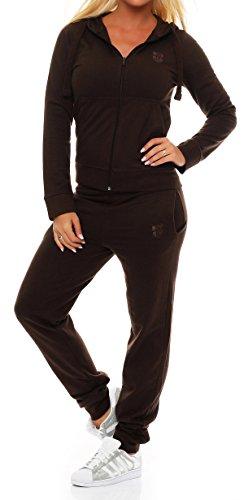 Gennadi Hoppe Damen Jogginganzug Trainingsanzug Sportanzug Braun