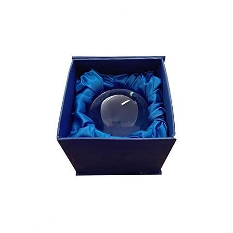 Boule de cristal de 9 cm avec coffret