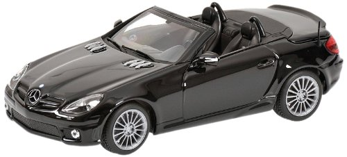 Minichamps 400033171 - Mercedes-Benz SLK 55 AMG Roadster (R171), Maßstab: 1:43, schwarz