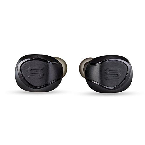 SOUL X-Shock- kabellose In-Ear Sport Kopfhörer mit Bluetooth 5.0 für Smartphones (iPhone X, Samsung Galaxy S9 uvm.) schweißresistent und wasserfest, schwarz