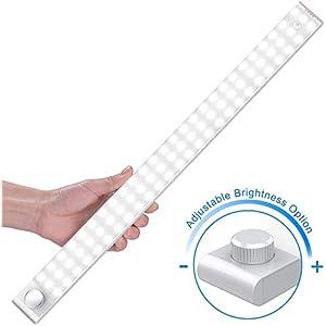 Upgraded LED Sensor Licht 78 LED,Wiederaufladbar Dimmbare SchrankLicht mit Bewegungsmelder,4 Modi Intelligente LED Küchenleuchte,Weiches Licht für Küche,Kleiderschrank,Kofferraum,Treppe,Wohnmobil