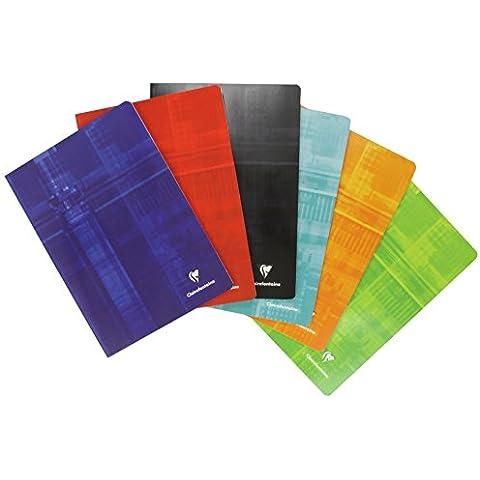 Clairefontaine 63162C - Cuaderno grapado, cuadricula de 5x5, 96 páginas, A4, colores surtidos, 1 unidad