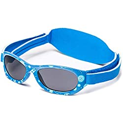 Kiddus Gafas de sol Baby para bebés, NIÑOS Y NIÑAS, desde 0 meses a 2 años, 100% protección UV, MUY CÓMODAS gracias a la SUAVE banda ajustable, el regalo ideal para recién nacidos.