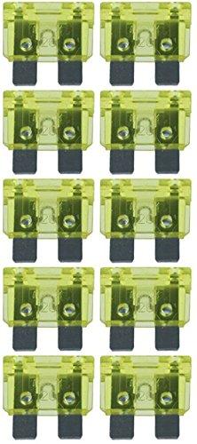 baytronic Standard Flachstecksicherung Kfz-Sicherung (10 Stück 20 A gelb) - 20 Sicherung