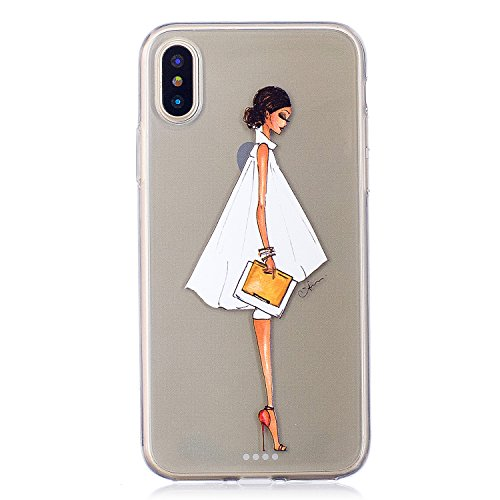 """Hülle für Apple iPhone X , IJIA Transparent Niedlich Totoro TPU Weich Silikon Stoßkasten Cover Handyhülle Schutzhülle Handytasche Schale Case Tasche für Apple iPhone X (5.8"""") HX31"""