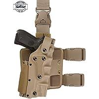 Vioaplem Disparos Caza De Combate Táctico De Airsoft Ejército Funda Protectora Arma De La Pistola De La Pistolera En Forma For El GL 17, Colt 1911, P226, HK USP, M9 (Color : Tan Color)