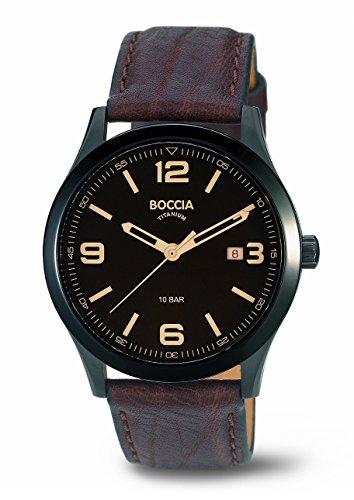Boccia - 3583-02 - Montre Homme - Quartz Analogique - Bracelet Cuir Marron