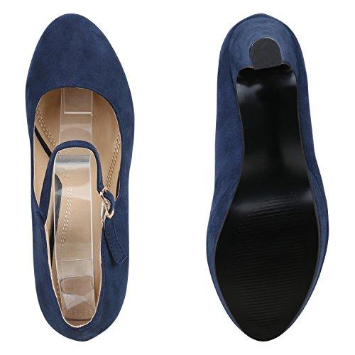 Bootparadise - Scarpe Chiuse Donna Bleu Foncé