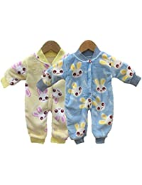 Miss U Baby Boys Baby Girls Infants Kids Shearing Velvet Full Sleeves Winter Wear Romper Set Overall Set
