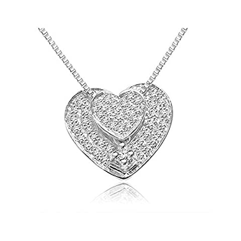 0.22ct G/VS1 Diamond Pendant for Women with Round Brilliant Diamonds in 18ct White Gold with Necklace