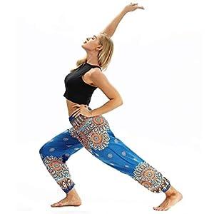 Hxuli Sport Leggins Für Damenharemshose Thai Hippie Boho Hose Lässige Lose Yoga Hosen Baggy Hosenrock Aladinhose…