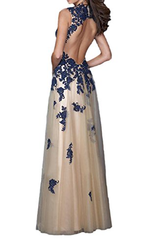 Promgirl House - Robe - Trapèze - Femme Bleu - Blau Champagner