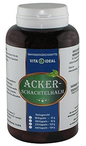 Ackerschachtelhalm, 180 Kapseln je 250mg rein natürliches Pulver, ohne Zusatzstoffe (Schachtelhalm, (Mangan 250 Tabletten)
