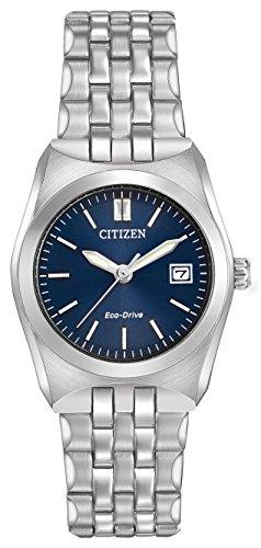 Citizen corso orologio da donna con display analogico e in acciaio INOX argentato EW2290–54L