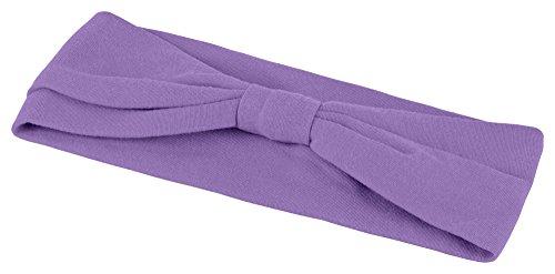 tanzmuster Kinder Ballett Haarband/Stirnband Coco aus weicher Baumwolle in Lavendel - hält den störenden Pony oder kürzeres Haar im Ballettunterricht optimal zurück. -