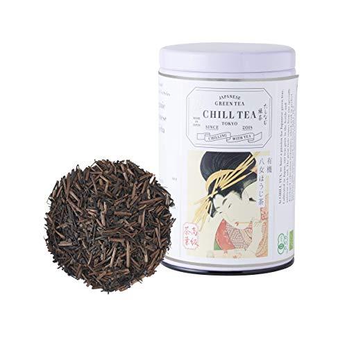 Organic Hojicha Loose Leaf Green Tea by CHILL TEA Tokyo- 100% Japanese Roasted Green Tea - Vegetarian & Non GMO Green Tea - Rich in Vitamins & Minerals - Low Caffeine - 80g