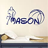 shensc Adesivi murali Sport Applique Basket Boy Room Indoor Campo Sportivo Asilo Nido 42x54cm