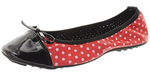 Dancing Days by Banned faltbare Ballerinas ERIN BND106 Red-Black Rot
