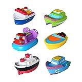 TOYMYTOY 6 Stücke Badespielzeug Boote Bad Spritzen Spielzeug für Baby Kinder Kleinkinder