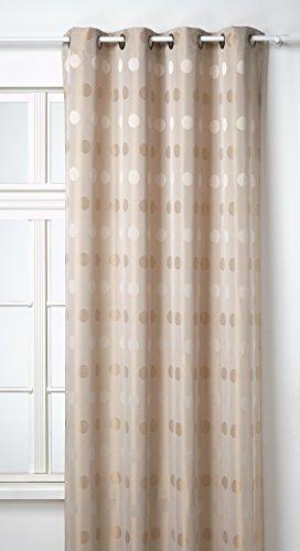Homemaison.com hm69851341 - tenda da arredo con fantasia a pois 140 x 260 cm avorio