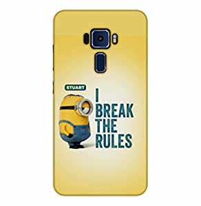 Happoz ASUS Zenfone 3 Deluxe (ZS570KL) Cases Back Cover Mobile Pouches Shell Hard Plastic Graphic Armour Premium Printed Designer Cartoon Girl 3D Funky Fancy Slim Graffiti Imported Cute Colurful Stylish Boys D077
