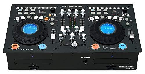 Pronomic CDJ-500 Full-Station Doppel DJ CD-Player (Standalone-Format, Phone/Line-Eingänge, CD, MP3 CD, SD & USB, Crossfader) (Cd-format Das)