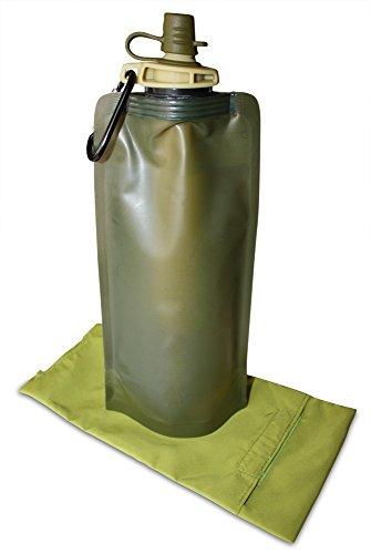 Filtertasche ideal zum Wandern - Faltflasche mit 99,99% Wasserreinigungswasserfilter - Softwasserflasche mit 0,1 Mikron Wasserreiniger - 700ml leichte und kompakte Wasserbeutel Wasser-kohle-filtration