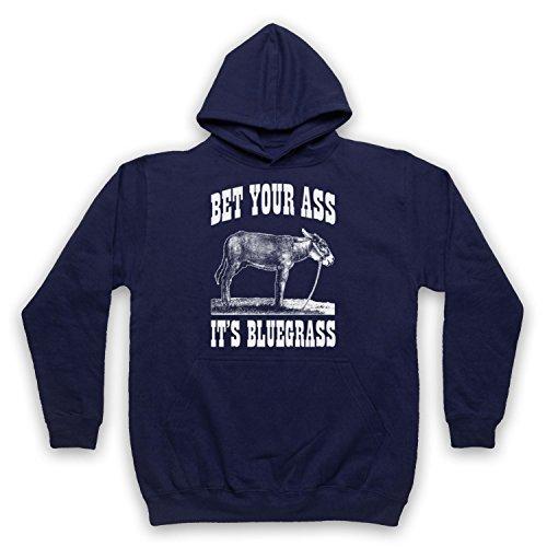 Bet Your Ass It's Bluegrass Slogan Erwachsenen Kapuzensweater, Ultramarinblau, XL