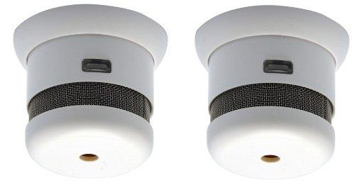 Lot de 2 mini Détecteurs de fumée Cavius NF - Autonomie de 5 ans - Plus petit détecteur au monde !!