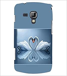 PrintDhaba Couple Swan D-1416 Back Case Cover for SAMSUNG GALAXY S DUOS S7562 (Multi-Coloured)