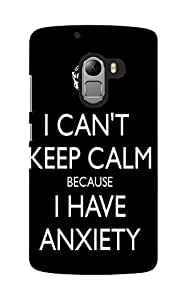 KnapCase Can't Keep Calm Designer 3D Printed Case Cover For Lenovo A7010