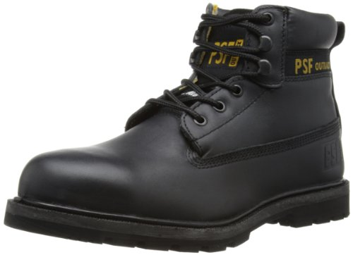 PSF Safety, Herren Chukka Boots, schwarz/gelb, 43 EU (9 UK) Safety Chukka Boot