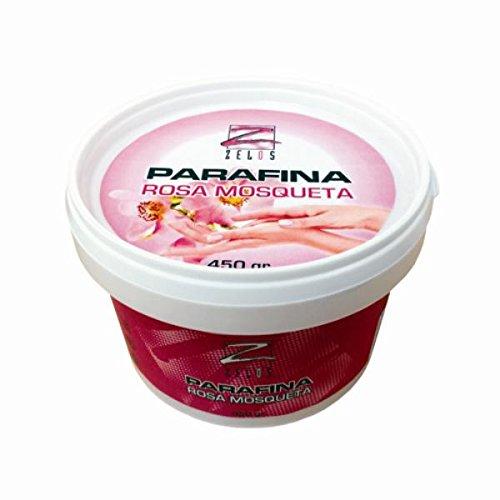 Parafina Rosa Mosqueta - 450 gr - Tratamiento de Máxima Hidratación en Capas Profundas de la Piel - Baño de Manos y Pies - Manicura y Pedicura - Producto Profesional - Zelos
